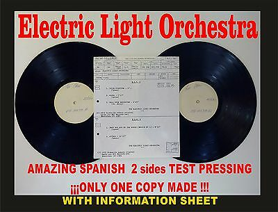 Electric Light Orchestra ELO2 Amazing Spanish Test Pressing. Only 1 copy made!