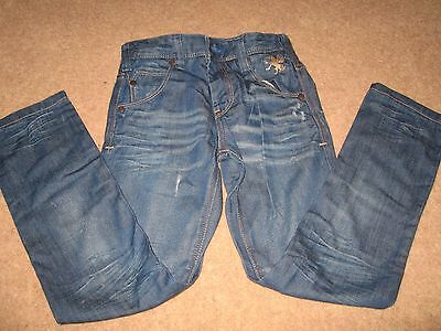 Next boys distressed jeans - Light Blue - 8 years