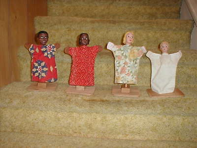 HAZELLE  Vintage Collectible Hand Puppets  (4)