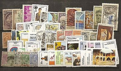 Chypre 50 Timbres Differents Identique Au Scan.....