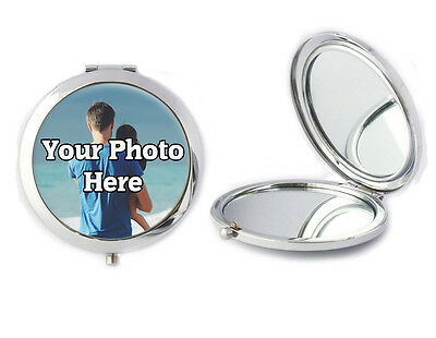 Personalised Any Photo Picture Compact Mirror Ladies Birthday Mothers Day Gift