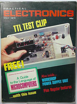 Practical Electronics  May 1978 - TTL Test Clip -VARIABLE 25V  1.5A Power Spply