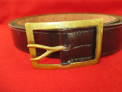 Civil War Confederate Frame Forked tongue Buckle And Leather Belt