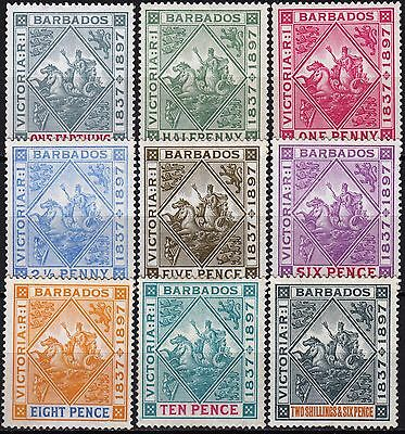 Barbados, 1897 Jubilee, SG 116 - 124, Mint very lightly Hinged, Cat £250