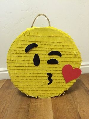 LARGE Kiss Emoji Pinata filled with Sweets Birthday Party & Stick personalised