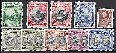 Grenada-1938/50. 10 Values to 2/- including shades. Very fresh MM.