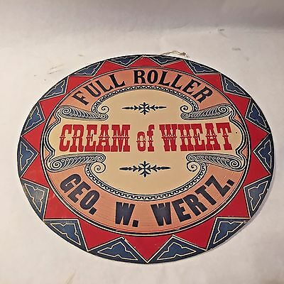 Vtg George W Wertz PA Congressman CREAM OF WHEAT Political STORE DISPLAY Sign