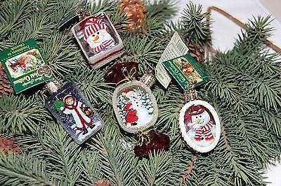 *Set of 4 Inside Art - Variety #1* Old World Christmas Glass Ornament - NEW