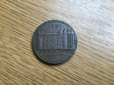 Dundee Scottish Copper Halfpenny Token Dated 1797