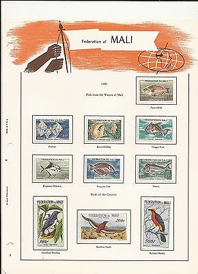 Mali 1960-61 Animals / Birds plus overprints and Airmails. Scarce sets. LMM