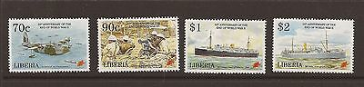Liberia 1995 End of WWII set unmounted mint.