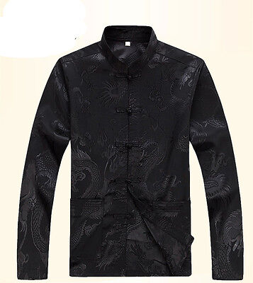 Brand New Arrival Chinese Traditional Men's Kung Fu Dragon Jackets Coats S-3XL