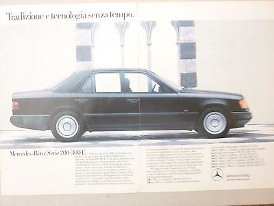 Advertising Pubblicita' Mercedes Benz 200-300 E   --1988