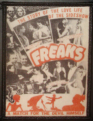 FREAKS - collage PATCH Cult HORROR movie Tod Browning, sideshow, circus oddities