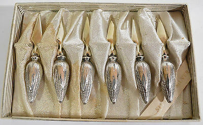 Boxed set of six silver handled sweetcorn spears