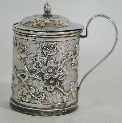 A late 19/early 20th Century Chinese export silver mustard pot, Wang Hing & Co.