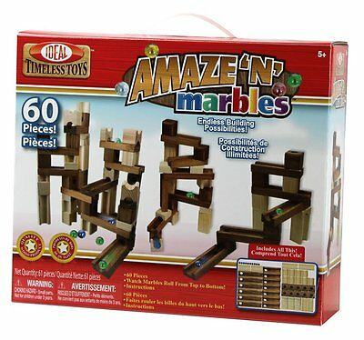 Marbles Classic Run Wood Wooden Construction Set 60 Pcs Pieces Toy Game Maze