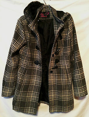 Women's Juniors Say What Polyester Wool Blend Coat Jacket  Size Large