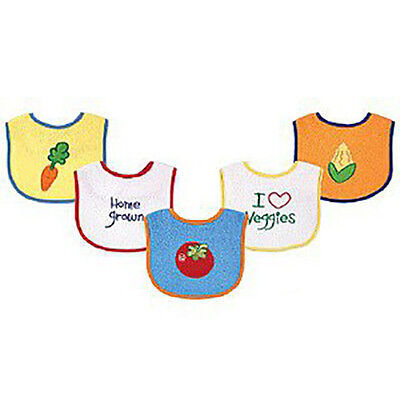 Luvable Friends Food Bibs for baby│5 Pack