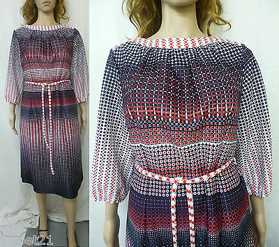 Ladies Vintage 80s Day Dress Fit Size 18