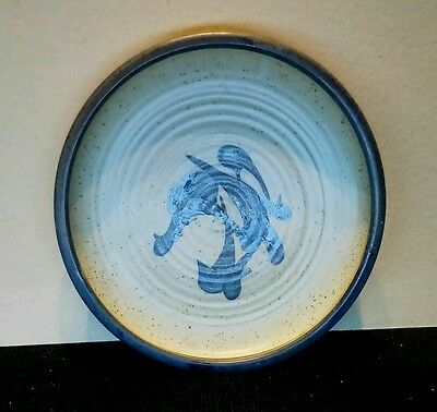 VINTAGE GEORGE DEAR STUDIO POTTERY CHARGER. Welsh art Pottery.