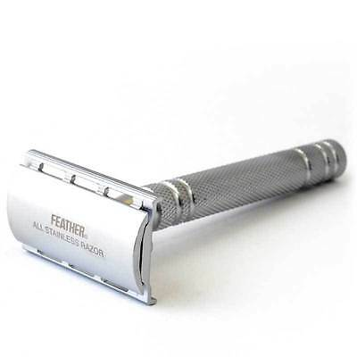 Feather AS D2 Double Edge Stainless Steel Safety Razor+5 Free Blades
