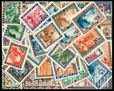 Rare Indonesia Mint Stamp Lot. 50 Stamps. Fast Shipping