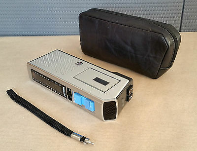 Vintage PHILIPS LFH 0088/00 Micro-Cassette Dictaphone + Case / Made in Austria