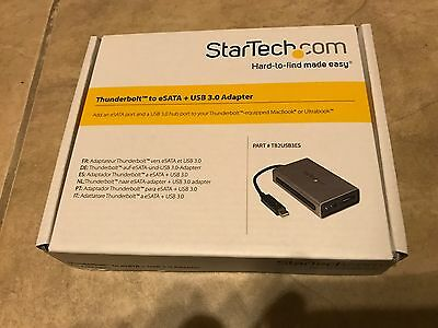 StarTech.com Thunderbolt to eSATA with USB 3.0 Adapter TB2USB3ES NEW in box