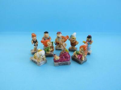 Retired Miniature Porcelain,the Gold Trimmed Flintstones Collection *exclusive