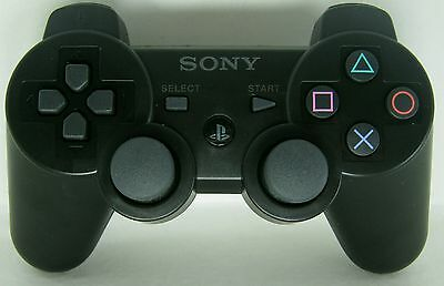 Sony Playstation 3 Controller Black PS3 DualShock 3 Wireless Game Joystick New