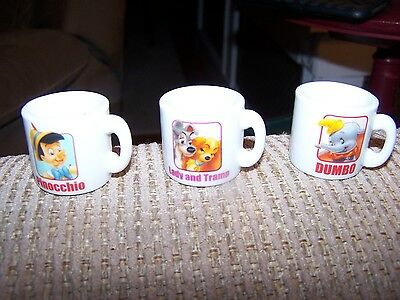 Disney Mini Mugs Vending Machine Collectible Lot of 3