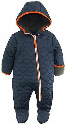 Wippette Baby Boys Footed Quilted Puffer Winter Snowsuit Pram Bunting Suit