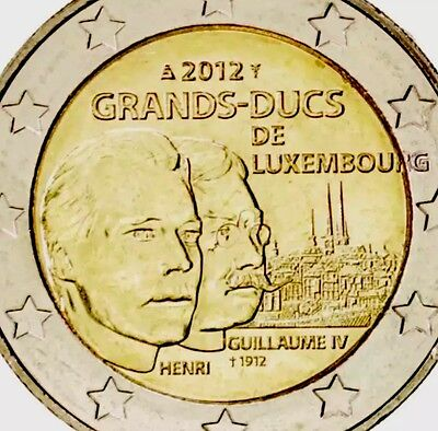 Luxembourg 2 Euro Commemorative Coin 2012 William IV New BUNC from Roll