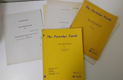 THE PARTRIDGE FAMILY Lot of 1971 Original TV Show Shooting Scripts