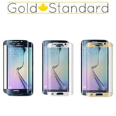 Samsung Galaxy S6 Edge FULL CURVED Premium TEMPERED GLASS Screen Protector 9H