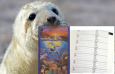 NEW Ocean Life Address Book 50 Pages ADDRESS TELEPHONE EMAIL Seal Pup