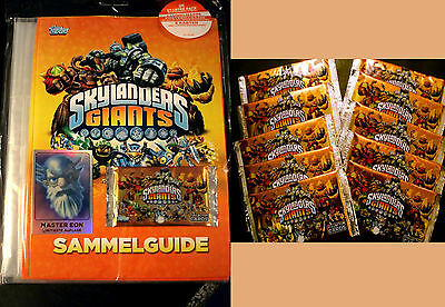 Topps SKYLANDERS GIANTS Trading Cards Starter Pack/Set+Tüten Booster Mappe Album