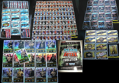 Topps Slam Attax EVOLUTION Sets+Karten/Cards WWE Wrestling Trading Card Champion