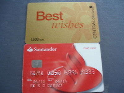 2 cards used expired bank card and gift card
