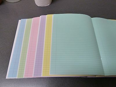 A4 dyslexia visual stress tinted coloured lined writing paper exercise book 5 pk