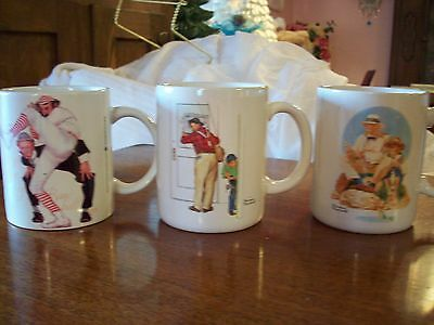 Vintage Norman Rockwell Coffee Cups