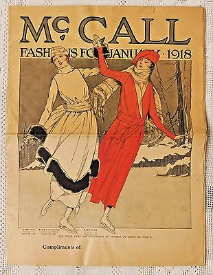 RARE VINTAGE McCALL FASHIONS FOR JANUARY 1918 SEWING PATTERN CATALOG