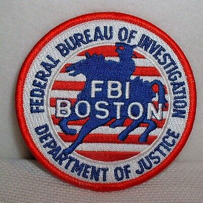 Department Of Justice FBI Boston Embroidered Patch - New & Unused