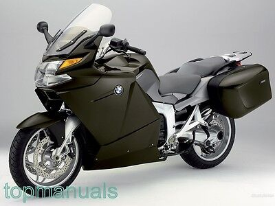 Bmw K 1200 Gt  Workshop Service Manual K1200Gt On Dvd