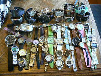 Huge Watch lot (50 watches) for parts and repair with great brands