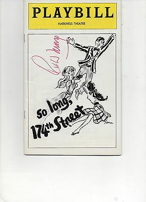 Playbill So Long, 174th Street Autographed signed Robert Morse 1976