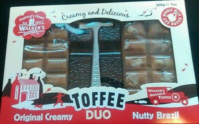 Walkers Toffee Duo Original Creamy and Brazil Nut 200g with hammer