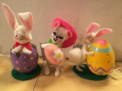 3 Annalee Easter Bunny Figures