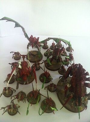 Warhammer 40k High Level Painted Tyranids Army Tervigon Swarmlord Tyrant More !!
